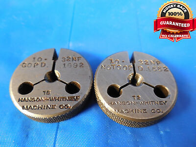 10 32 Nf Special Pd Thread Ring Gages 10 .190 Go No Go P.d.s .1692 .1662