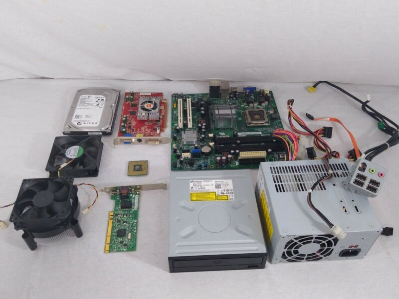 Collection Lot of Computer Parts Seagate Foxconn AVC Fan Graphic Card Intel Core