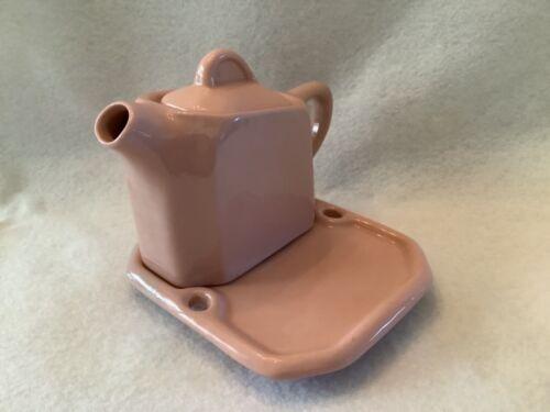 Buffalo China Rouge One Creamer w/ Tray Vintage Pink ~ SHIPS FREE