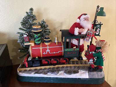 VGC Light Sounds ANIMATED CHRISTMAS TRAIN SET Holiday Decoration LARGE