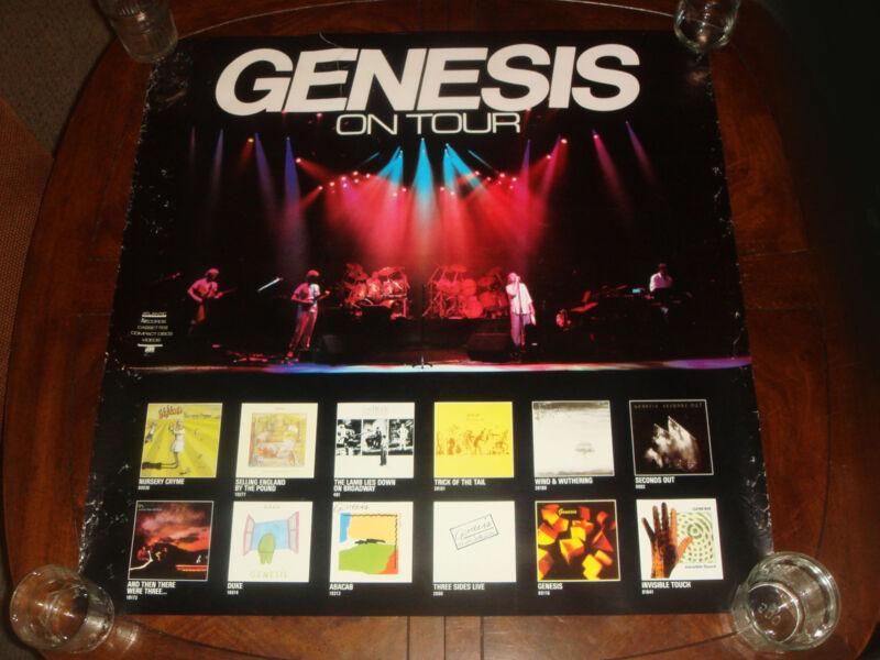 "RARE Vintage GENESIS ""ON TOUR"" 1986 ATLANTIC RECORDS PROMO POSTER"