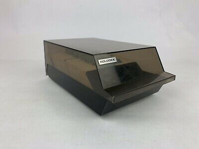 Vintage Rolodex Card File Vip 24-c Business Card Telephone File Lots Of Cards