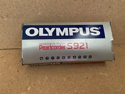 Olympus Pearlcorder S921 Handheld Cassette Voice Recorder Vintage New