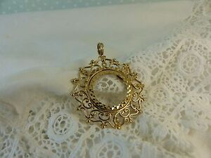 9ct 9carat Yellow Gold Half 1/2 Sovereign Coin Pendant Mount