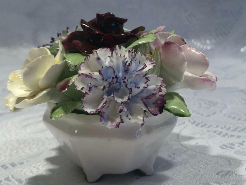 Royal Doulton Bone China Porcelain Hand Molded Floral Bouquet England