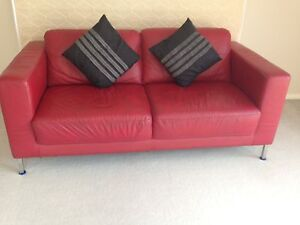 Full leather 2.5 seater sofa Dianella Stirling Area Preview