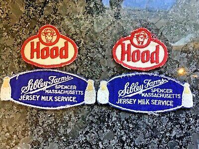 Milk Man Uniform (RARE Vintage Sibley's Farm Milkman Uniform Patches Hood Spencer MA Jersey)