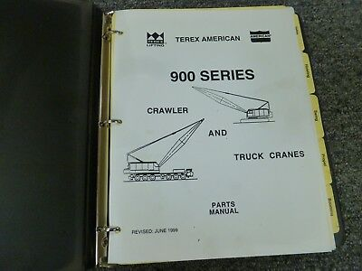 Terex American Model 9310 Lattice Boom Crawler Crane Parts Catalog Manual