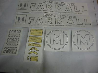 Vinyl Decal Set Farmall M International M
