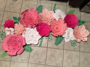 Hand made large paper flower backdrop
