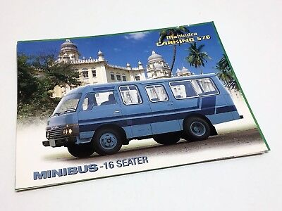 Used, 1997 Mahindra Cabking 576 MiniBus Information Sheet Brochure for sale  Canada