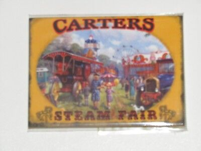 New Metal Fridge Magnet Carters Steam Fair Traction Engine Fairground 6.5 x 9cm