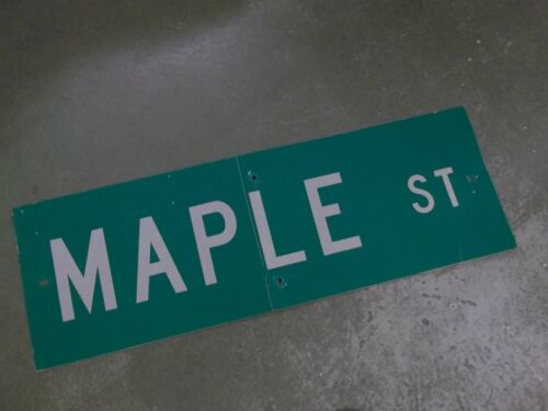 Vintage ORIGINAL MAPLE ST Street Sign 36
