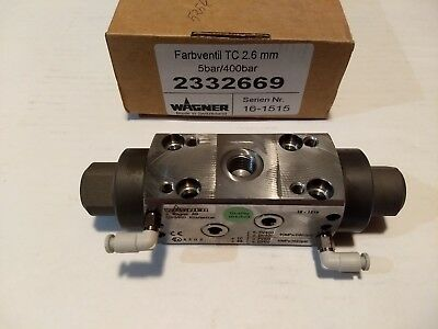 Wagner Farbventil Tc 2.6mm Paint Valve 5bar 400bar 2332669 Sprayer Ch-9450