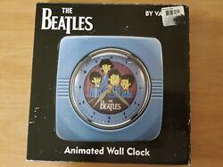 The Beatles Collectible 10 Blue Wall Clock - Cartoon Apple - By Vandor