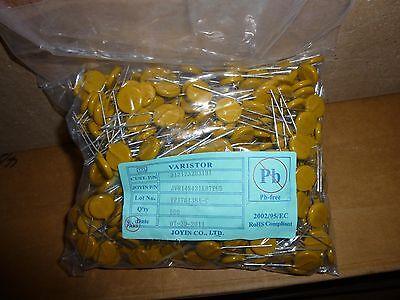 500x 14mm 275VAC 350VDC 10% Varistor JVR14S431K87PU5 sealed factory bags ROHS