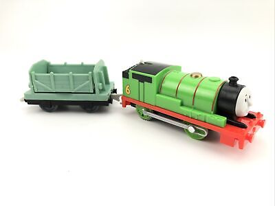 Thomas & Friends Trackmaster Percy Motorized Train 2013 W/ Green Log Cargo Car