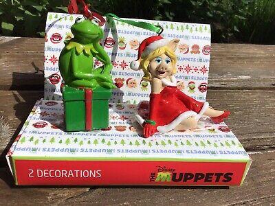 Disney Muppets Weihnachtsbaum-Deko Kermit und Miss Piggy, neu