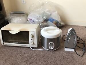Rice cooker,Iron and small griller