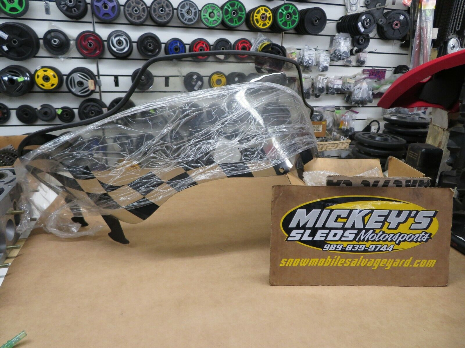 OEM POLARIS BLACK CHECKERED WINDSHIELD AGGRESSIVE CHASSIS XCR STORM 600 700 800