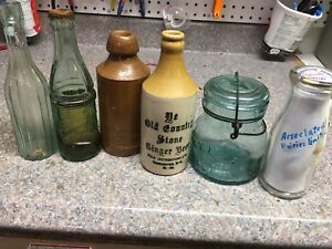 Early Vintage Advertising Bottles - Ginger Beer