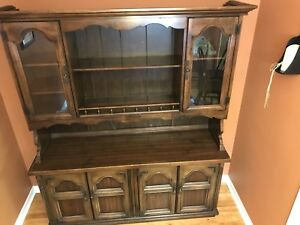 Kitchen Cabinet hutch solid wood $175 OBO