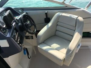 Helm boat seat