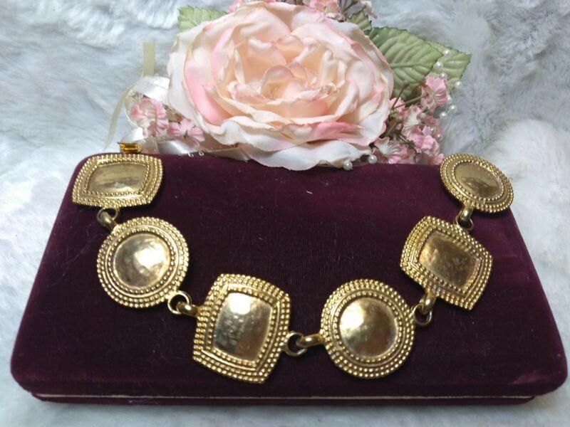"""VINTAGE """"OSCAR"""" OSCAR DE LA RENTA GOLD TONE Bracelet designer signed couture"""