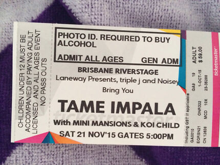 Tame impala ticket Brisbane 21nov Burleigh Heads Gold Coast South Preview