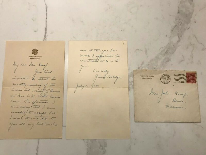 First Lady Grace Coolidge ALS - Autograph on White House Letterhead