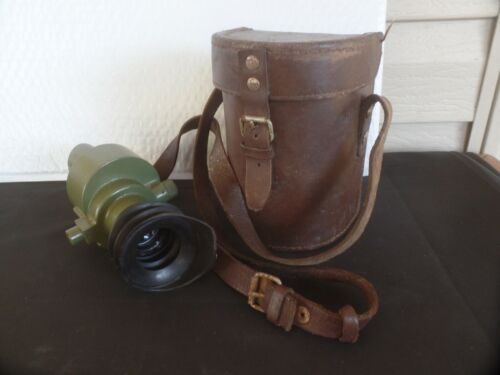 Vintage Serbian Military Monocular Optical Sight Scope With Leather Case. M59