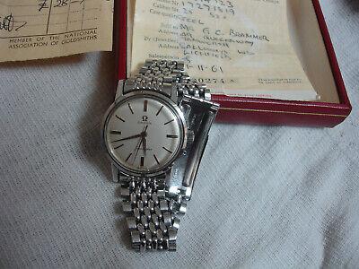 Vintage 1959 Omega Seamaster 520 watch Stainless Steel Bracelet Box/paper