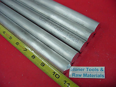 5 Pieces 78 Aluminum 6061 Round Rod 10.5 Long T6511 Solid New Lathe Bar Stock