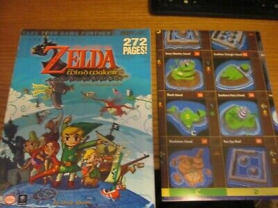 Legend of Zelda the Wind Waker Bradygames Strategy Guide with poster Free Ship