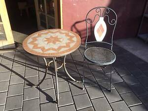 2 piece outdoor setting mosaic table & folding chair   Mosaic tab Kewdale Belmont Area Preview