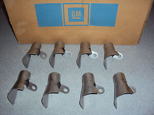 NOS GM (8) Spark Plug Exhaust Manifold Heat Shields 396 402 427 454 Engine Motor
