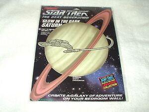 Star Trek Decal The Next Generation Glow In The Dark Saturn & Klingon