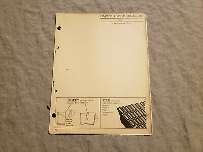 John Deere 40 Hydraulic Loader Parts Catalog Manual For B 40 Mt Tractor