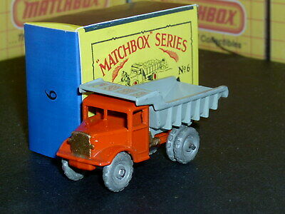 Matchbox Moko Lesney Euclid Quarry Truck 6 a1 MW FC thin gap SC2 VNM crafted box