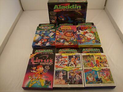 Nintendo Entertainment System 7 Beautiful Video GAMES And Aladdin Deck Enhancer