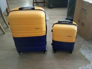 cc86fa5df 2 Piece Lightweight Hard Suit Case Luggage Yellow & Purple | Bags ...