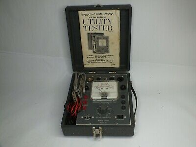Vintage - Accurate Instrument Co - Utility Tester- Model 161 W Manual -