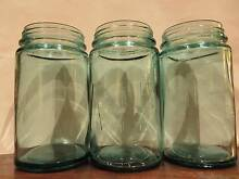 VINTAGE AGEE JARS STUNNING GREEN & CLEAR GLASS X 6 Croydon Maroondah Area Preview