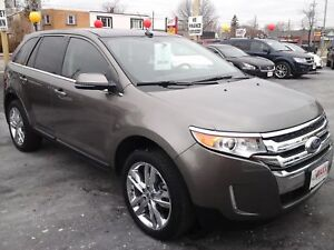 2014 FORD EDGE LIMITED- PANORAMIC SUNROOF, NAVIGATION SYSTEM, LE