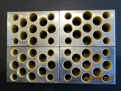 1-2-3 Blocks Set Of Four Matched With Holes. Condition Used.