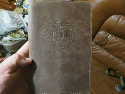 Army Warrant Officer Rustico Leather Book Cover