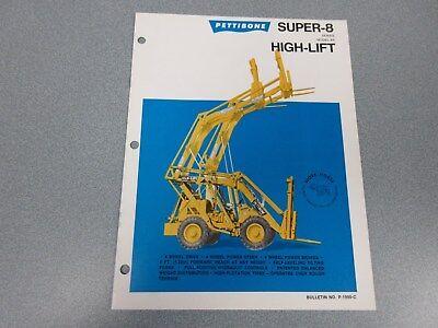 Rare Pettibone Super 8 High Lift Sales Brochure