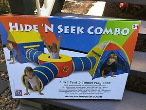 Brand new in box hide n seek combo - tent and tunnel for kids Sherwood Brisbane South West Preview