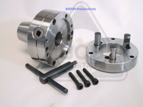 BOSTAR  5C Collet Chuck With Semi-finished D1-4 Back Plate Lathe use