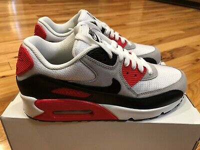 Nike By You ID Air Max 90 White Black Red CW6940 992 Men's Size 8